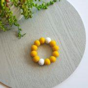 Basics Silicone Teether - Mustard