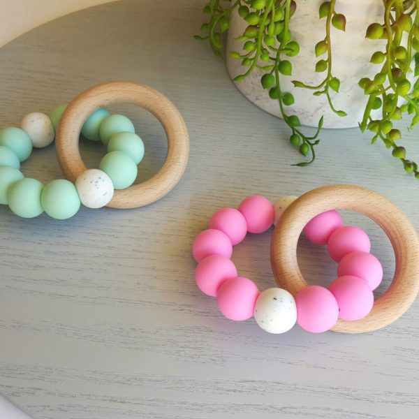 Bay Silicone and Beech Ring Teether