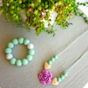 Flower Silicone Pendant Necklace