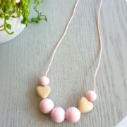 Come to the Heart Pink Silicone Necklace