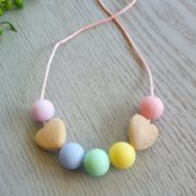 Come-to-the-Rainbow Mini Me Silicone Necklace