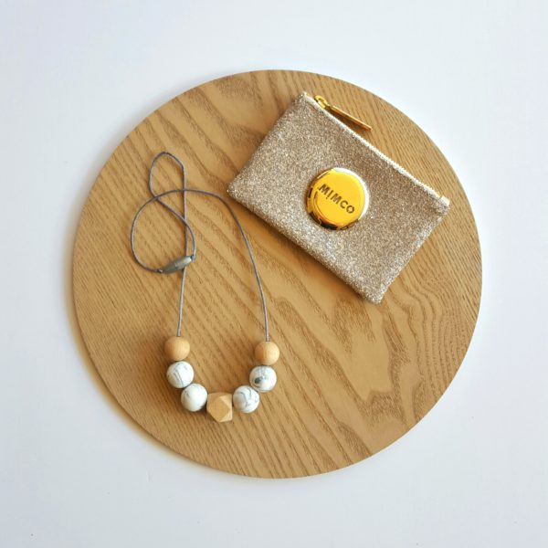Greys Beech Wood & Silicone Necklace
