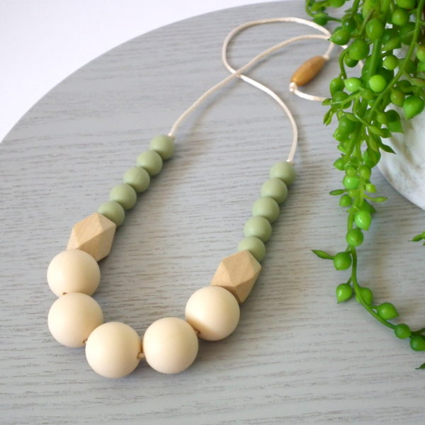 Lillian Silicone & Wood Necklace