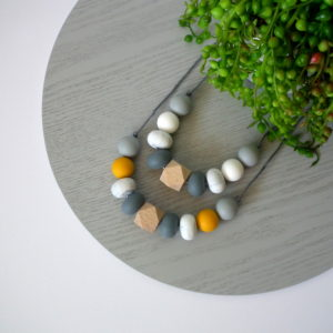 Tallow Beech Wood & Silicone Necklace