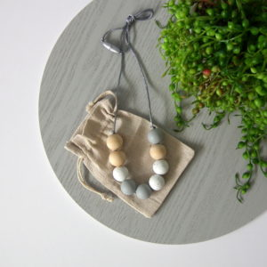 Brooklet Silicone & Wood Necklace