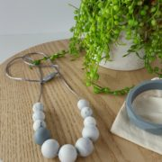 Grey Georgica Silicone Necklace