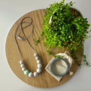 Mint Georgica Silicone Necklace