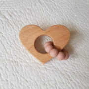 Lovemore Heart Teether - Blush