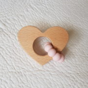 Lovemore Heart Teether - Quartz Pink