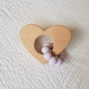 Lovemore Heart Teether - Lavender